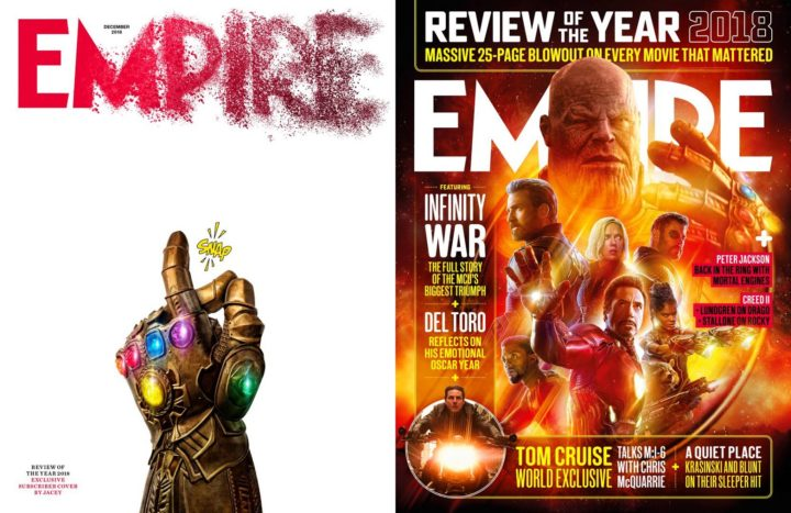 Empire, December 2018 - subscriber vs public covers