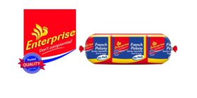 Enterprise logo and French polony no pork