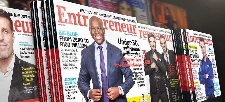 Entrepreneur South Africa magazines slider