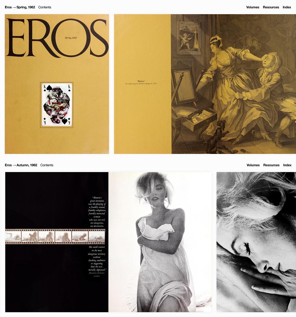 Eros Spring 1962, online archive, retrieved September 2018