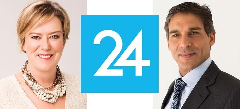 Esmaré Weideman, Media24 logo and Ishmet Davidson