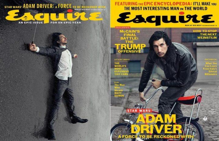Esquire, December 2018 January 2018 - Adam Driver