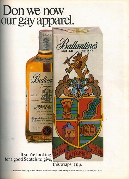 Ballatine's ad, Esquire US, December 1967