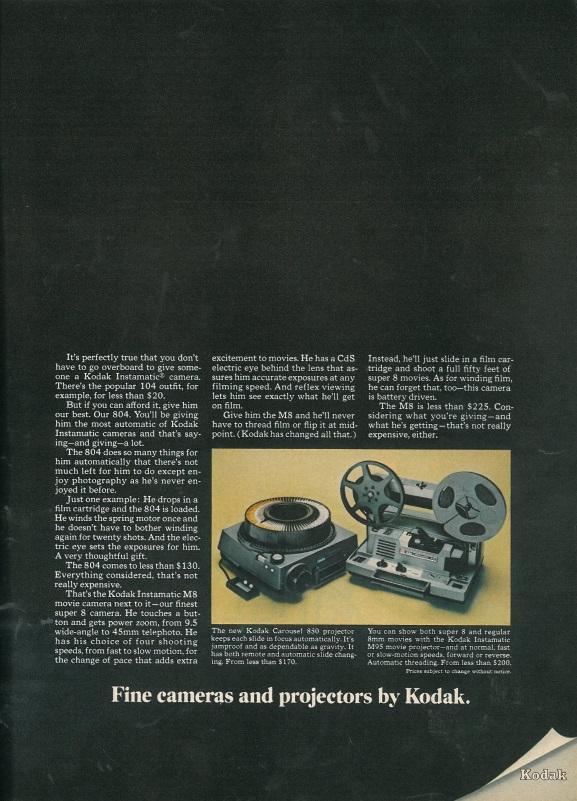 Kodak ad page 2, Esquire US, December 1967