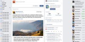 Facebook News Feed mockup