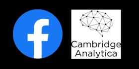 Facebook logo and Cambridge Analytica logo