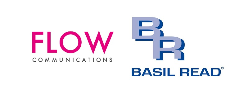 Flow Communications logo and Basil Read logo