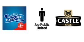 Flying Fish logo, Joe Public United logo and Castle Free logo