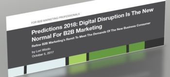 Forrester Predictions 2018 for B2B marketing professionals