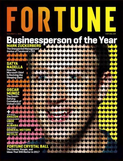 Fortune, 1 December 2016: Mark Zuckerberg