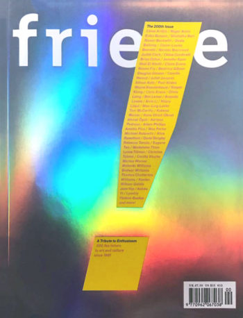 Frieze, issue 200, January 2019