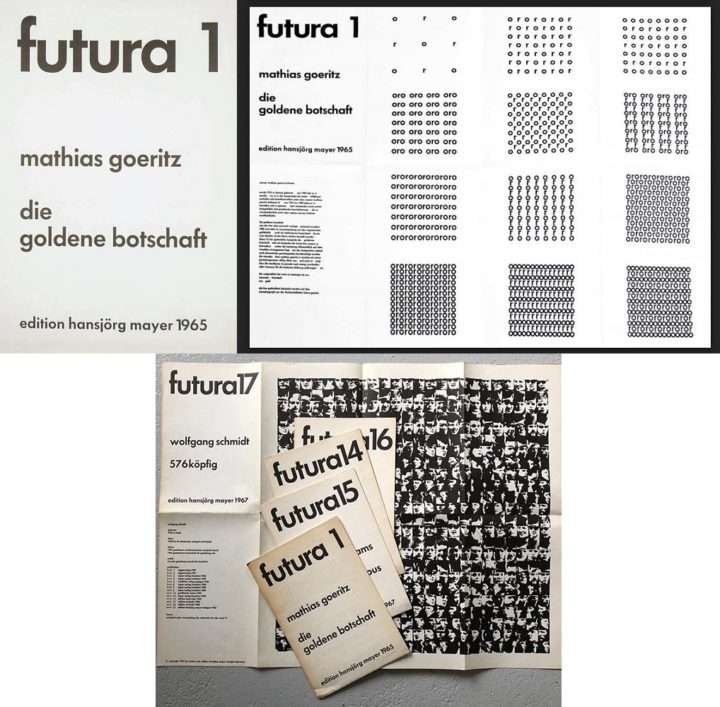 Futura, cover and full spread, 1965 and selection 1965-1968