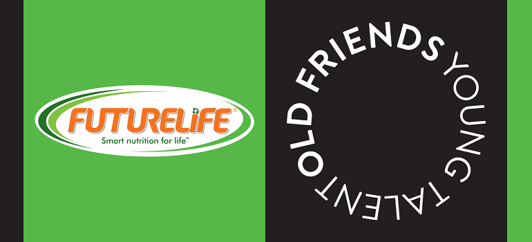 Futurelife logo and Old Friends Young Talent logo