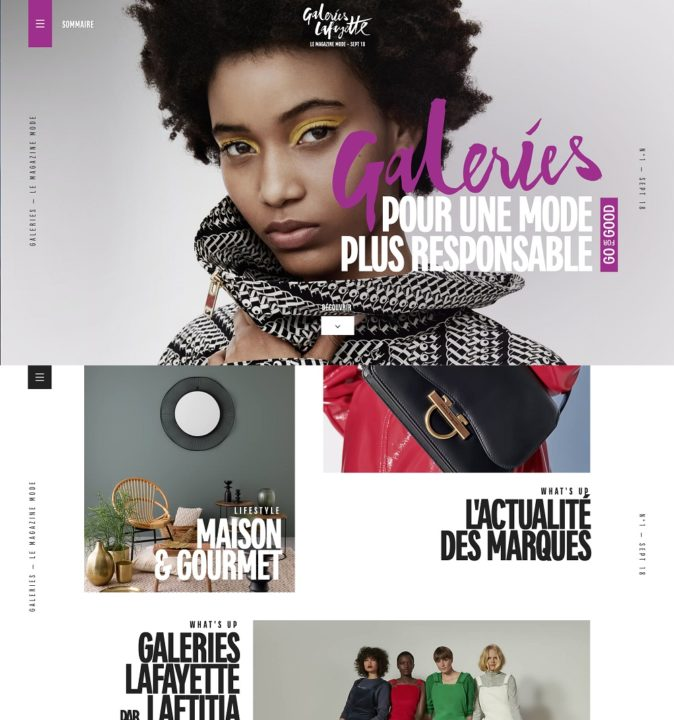 Galeries Lafayette Le Magazine Mode, online, September 2018