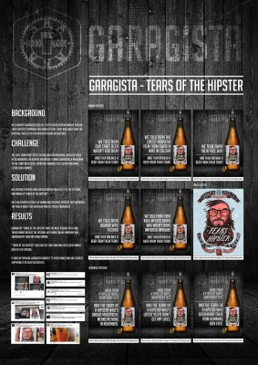 Garagista Beer Tears of the Hipster direct marketing design print 1000