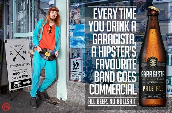 Garagista: Every time you drink a Garagista, a hipster's favourite band goes commercial