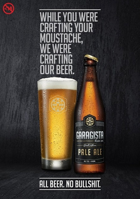 Garagista: While you were crafting your moustache, we were crafting our beer
