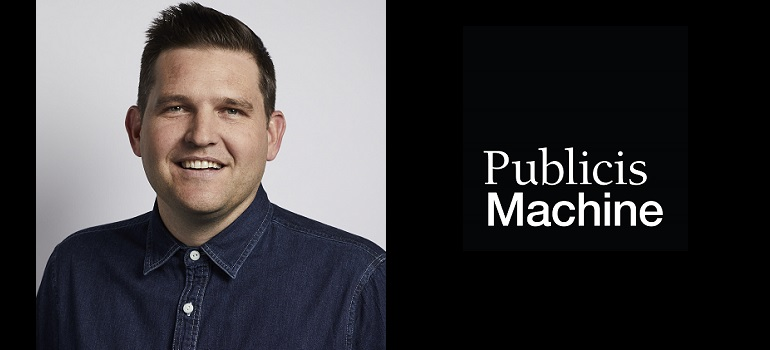 Gareth McPherson and Publicis Machine logo