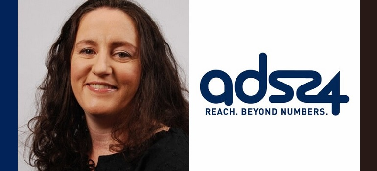Gayle Edmunds and Ads24 logo