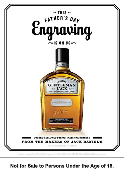 Gentleman Jack engraving Fathers Day 2017