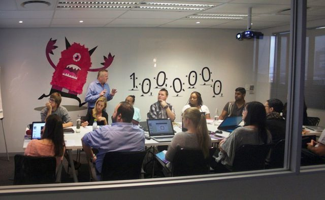 GetSmarter branded meeting space. Pic by Jon Pienaar