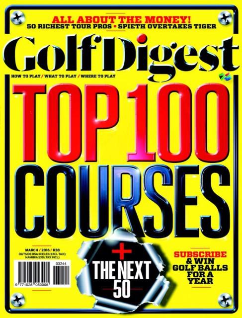 Golf Digest, March 2016
