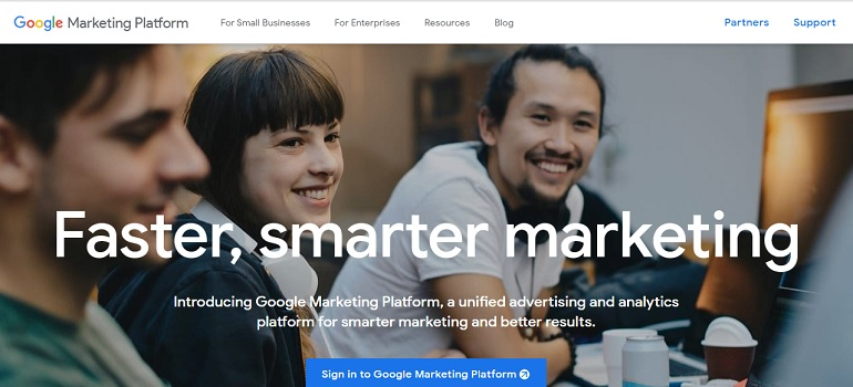 Google Marketing Platform screengrab