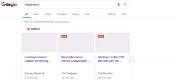 Google digital ghost town visualisation