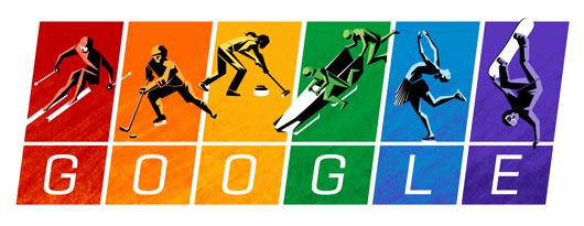 Google Doodle 2014 Winter Olympics