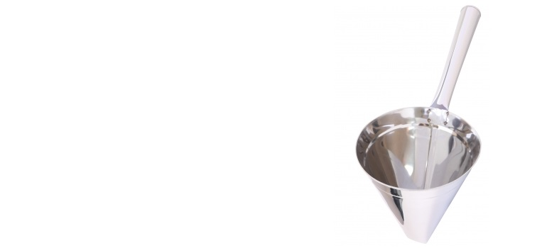 Head Cup of Stainless Funnel on White Background by Keerati courtesy of FreeDigitalPhotos.net