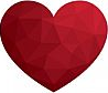 Heart-Love-Polygon-Geometric-Flat-Design-Icon-Illustration by lekkyjustdoit courtesy of FreeDigitalPhotos