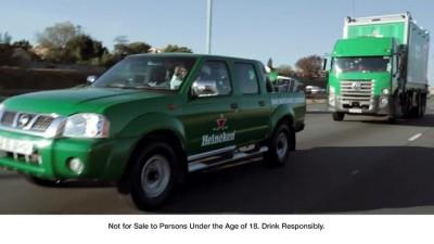 Heineken #ChampionTheMatch in Soweto with Deco screengrab Heineken bakkie