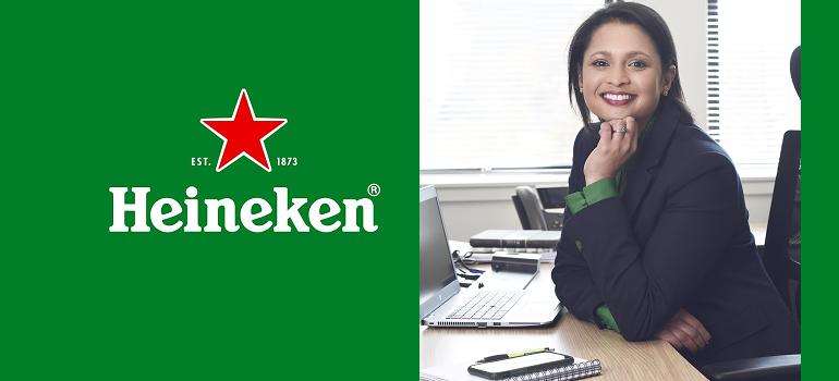 Heineken logo and Carmen Mohapi