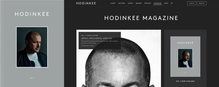 Hodinkee, print and online, volume 2 August 2018 - Jony Ive