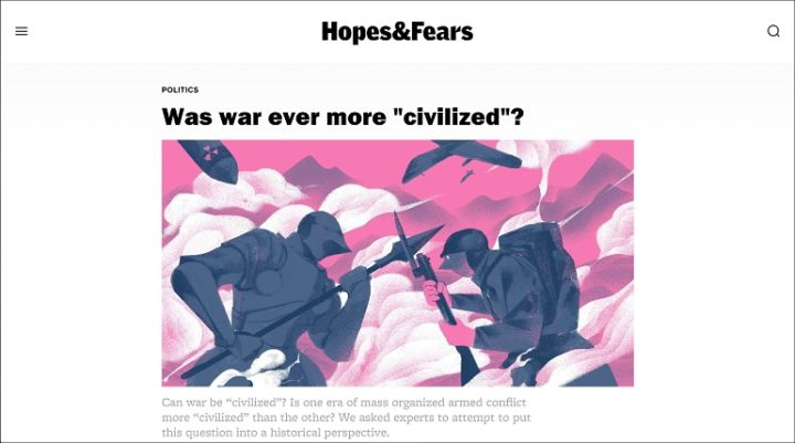 Hopes&Fears, front page, November/December 2017