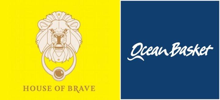House of Brave logo and Ocean Basket logo