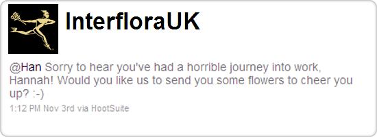 Interflora UK tweet