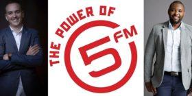 JD Mostert, 5FM logo and Siyanda Fikelepi
