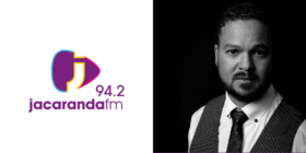 Jacaranda FM logo and Leith Smith