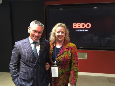 Johanna McDowell with BBDO global CEO, Andrew Robertson