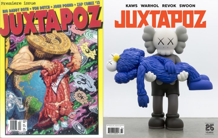 Juxtapoz, issue 1 premier edition, 1994 and issue 2018, 25 year anniversary edition, 2018