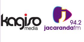 Kagiso Media logo and Jacaranda FM logo