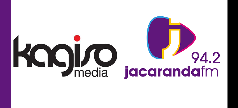 Kagiso Media logo and Jacaranda FM logo