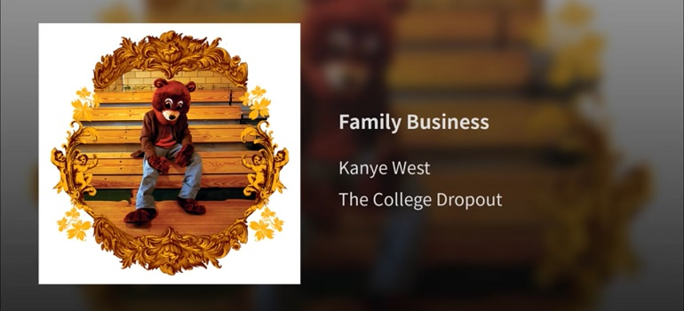 Kanye West Family Business off The College Dropout - YouTube screengrab