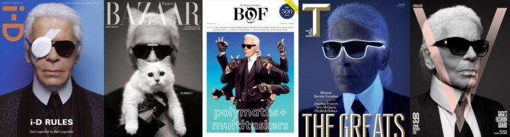 Karl Lagerfeld - i-D Magazine Spring 2012, Harpers Bazaar 2013, Business of Fashion 2014, TNYTS Magazine 2015, V Magazine Spring 2016