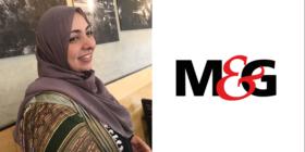Khadija Patel and M&G logo