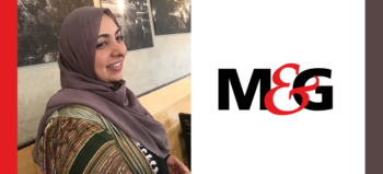 Khadija Patel and M&G logo