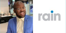 Khaya Dlanga and rain logo