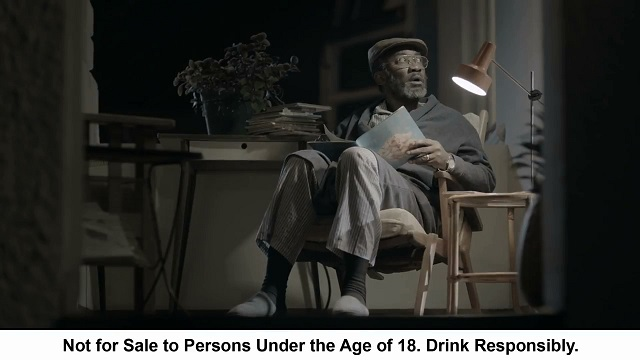 King James 'The Reader' TVC for Bells screengrab