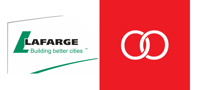 Lafarge logo and Boomtown logo
